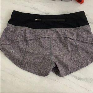 Grey Lululemon shorts